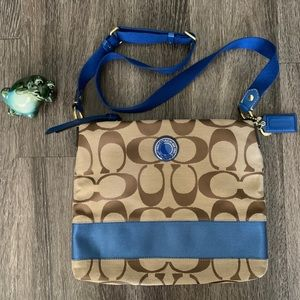 Coach blue brown bag